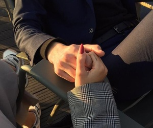 love, couple, and nails image