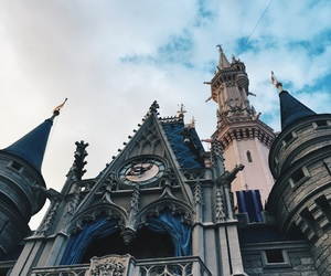 blue, castle, and cinderella image