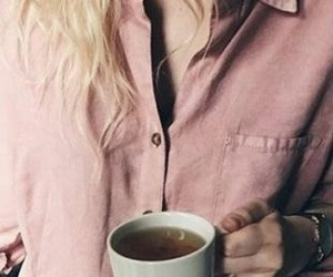 chill, coffee, and girl image
