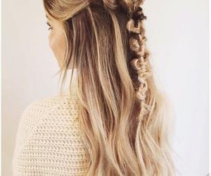 blonde, blonde hair, and hair image