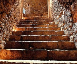 brown, stairs, and stone structures image