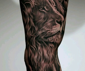 sleeve, lion, and tattoo image