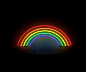 light, neon, and rainbow image