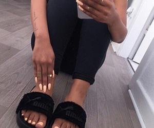 nails, fashion, and black image