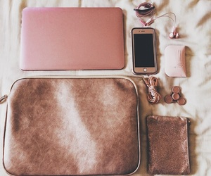 girly, iphone, and macbook air image