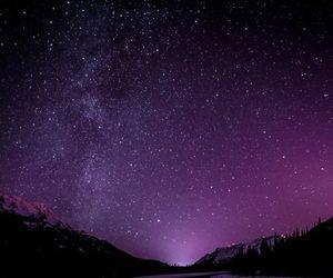 stars, purple, and sky image