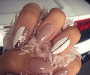 gold, nails, and white image