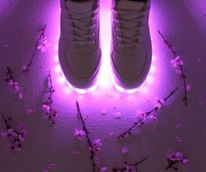 flowers, purple, and shoes image