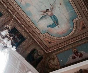 Catholic, capela, and afresco image