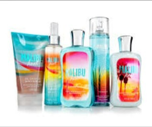 lotion, malibu, and perfume image