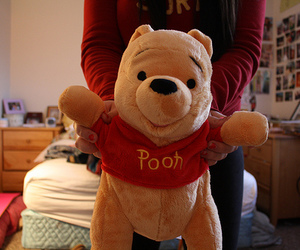 pooh, cute, and photography image