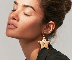 stars, earring, and fashion image