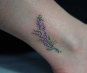 flowers and tatoo image