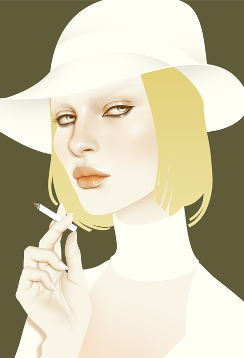 art, illustration, and lady image