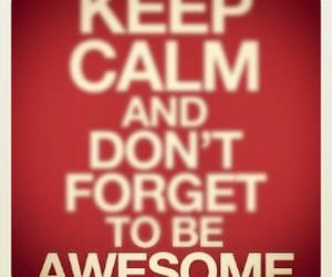 awesome and keep calm image