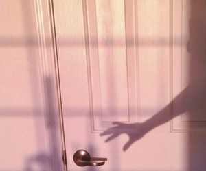 pink, shadow, and door image