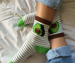 avocado, socks, and aesthetic image