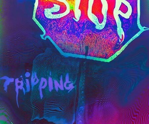 stop, drugs, and lsd image