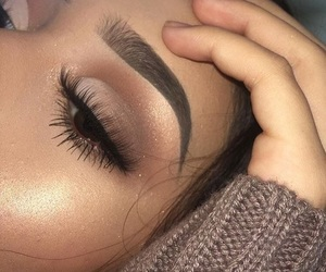 lashes, makeup, and brows image