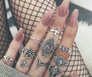 beautiful, silver, and stone image