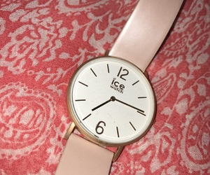 nice, pink, and watch image