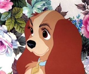 disney, lady, and dog image