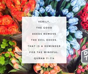 quran, good deeds, and surah hud image