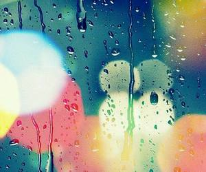 wallpaper, light, and rain image