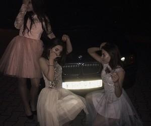 dress, bmw, and car image