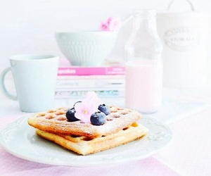waffles and breakfast image