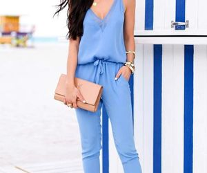denim jumpsuit image