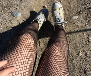 converse, edgy, and tights image