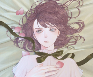 aesthetic, flower petals, and art image
