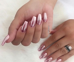 nails shiny pink hybrid and nails shiny hybrid pink image