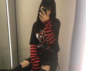 style, black, and ulzzang image