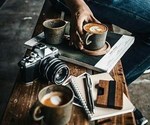 black coffee, coffee art, and business woman image
