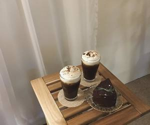 brown, cafe, and coffee image