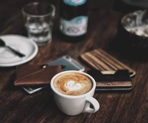 black coffee, espresso, and good morning image