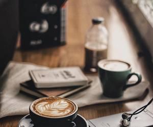 black coffee, breakfast, and heart image
