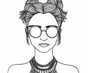 alternative, black and white, and boho image