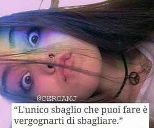 frasi, italian, and mistake image