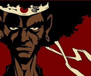 anime, afro samurai, and black anime characters image