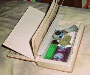 weed, book, and cool image