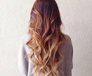 hair, ombre, and copperhair image