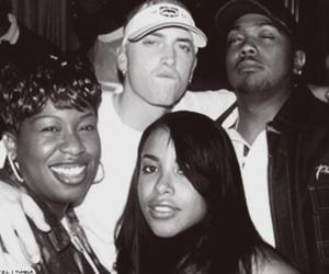 eminem, aaliyah, and Timbaland image