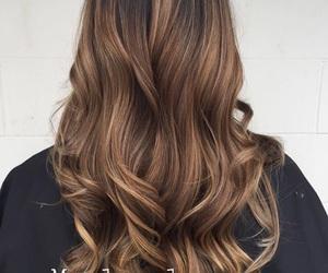 curls, hair, and balayage image