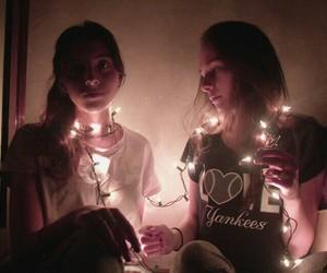 Fairies, fairy lights, and grunge image