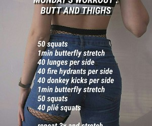 butt, fitness, and monday image