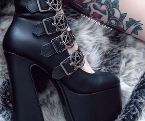 gothic, tattoo, and rockstyle image