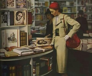 books, red, and 1970s image